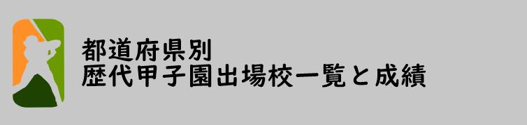 都道府県別 歴代甲子園出場校一覧と成績