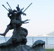 源義経・平知盛の像を観光(壇ノ浦の戦い)~山口県下関市~
